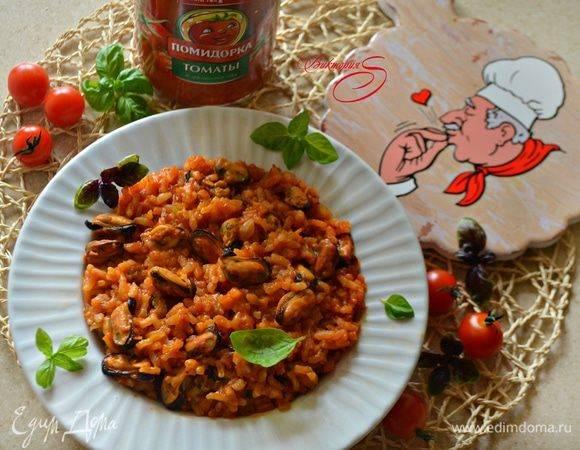 Итальянское ризотто с помидорами - вкусное и ароматное блюдо
