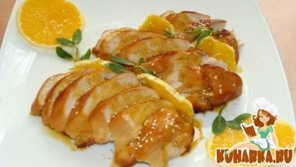 Курица с овощами в медово-горчичном соусе