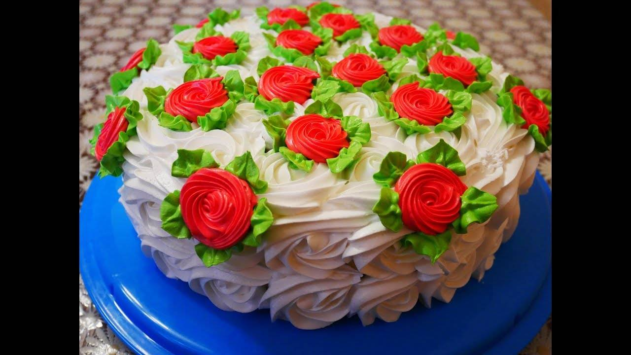 Бисквитный торт персиковый со сливочным кремом