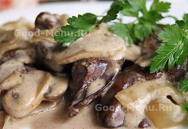 Куриная печень, запеченная в духовке - 7 пошаговых фото в рецепте
