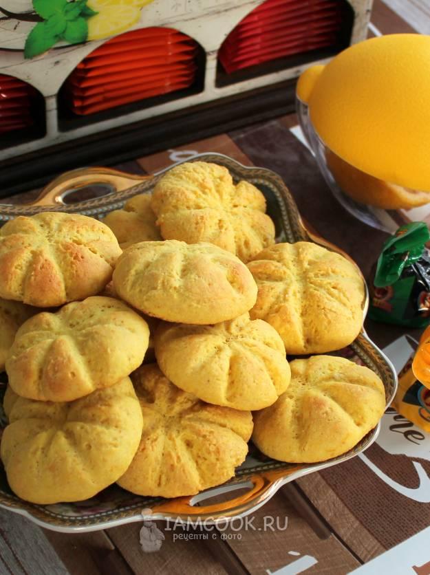 Кукурузно-лимонное печенье с тимьяном и перцем