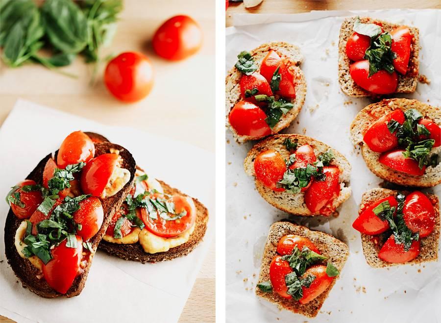 Рецепты брускетта с помидорами и базиликом