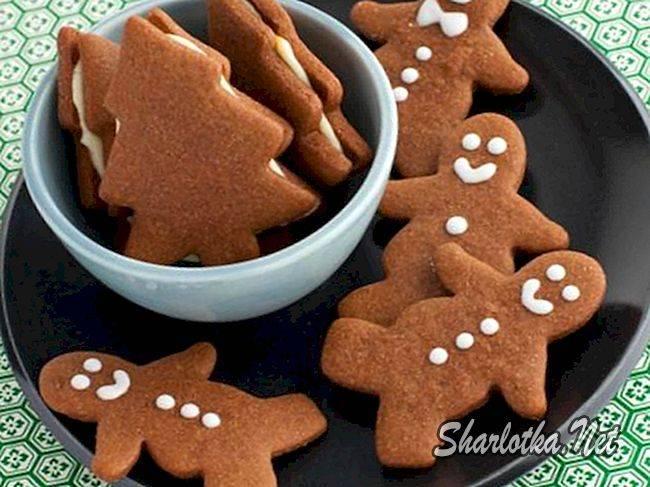 Печенье с шоколадом сердечки