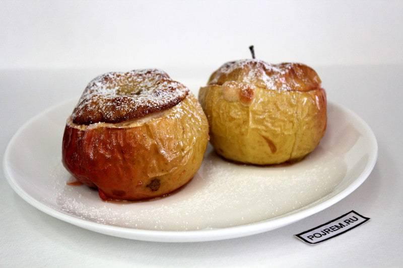 Простые и вкусные рецепты яблок, запеченных в духовке, с творогом