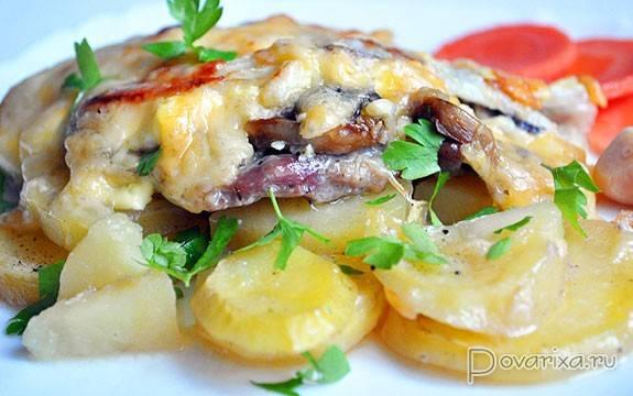 Свинина с картошкой и грибами: жареная, запеченная, тушеная. интересные вариации приготовления картошки со свининой и грибами
