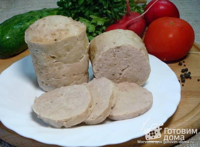 Домашняя вареная колбаса в кружке
