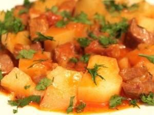 Тушеная картошка с курицей — лучшие рецепты. как правильно и вкусно приготовить тушеную картошку с курицей.