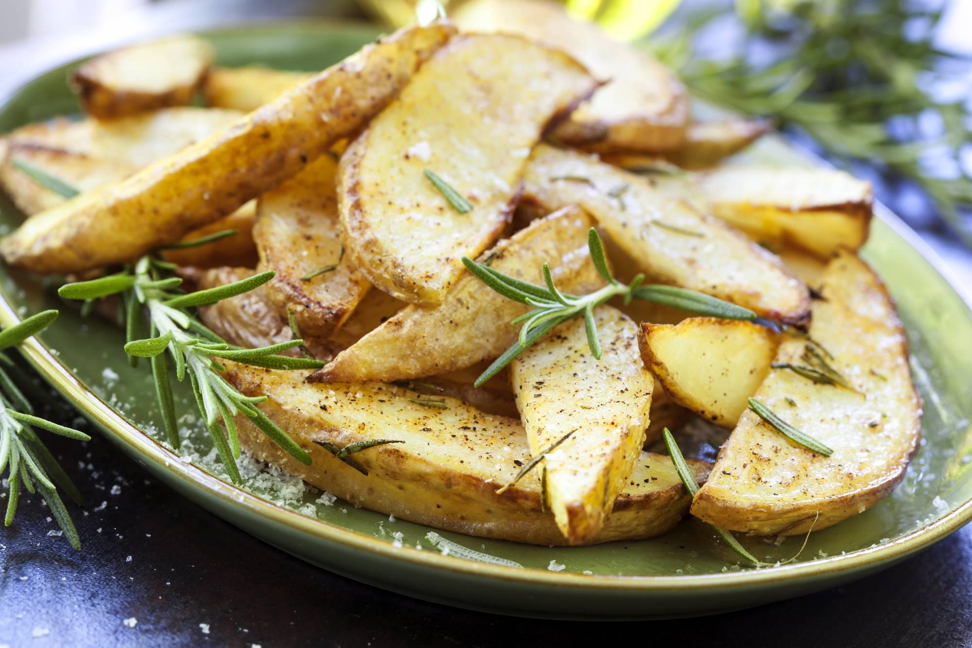 Дольки картофеля запеченные в духовке рецепт