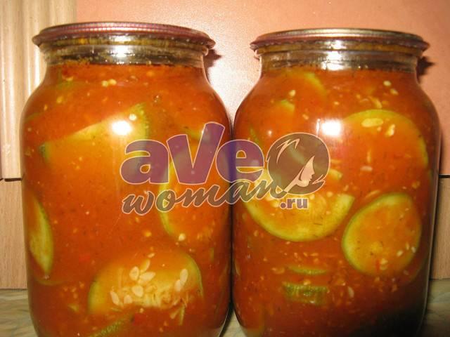 Кабачки с помидорами на зиму: золотые рецепты с фото