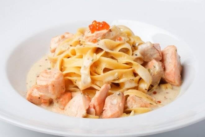 Рецепт фетучини в сливочном соусе с грибами