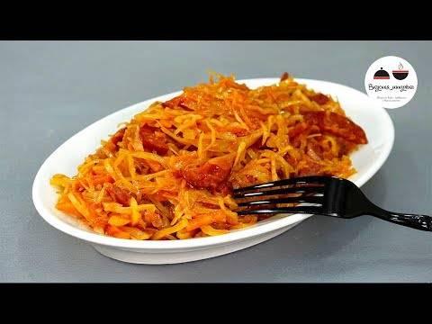 Паста с сосисками и капустой – очень просто и невероятно вкусно!