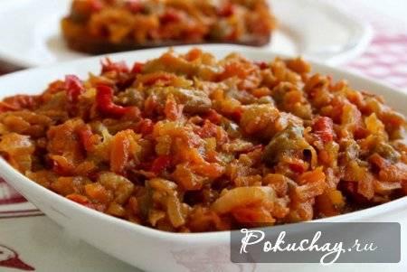 Баклажанная икра из запеченных овощей - 9 пошаговых фото в рецепте