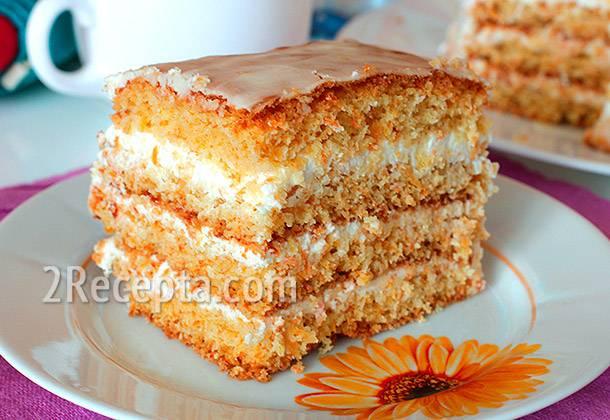 Самый простой морковный пирог - очень вкусный и полезный десерт