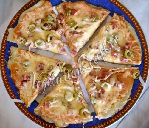 Улётная пицца на сковороде
