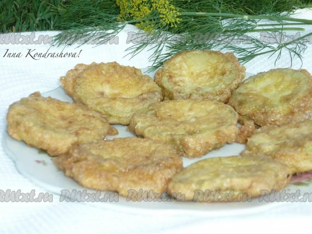 Кабачки, жареные в кляре - 10 пошаговых фото в рецепте