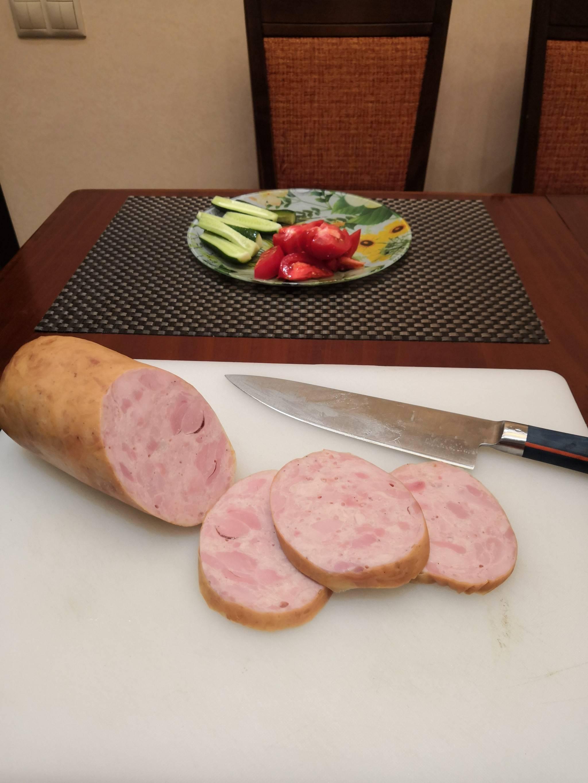 Варёная куриная колбаса в домашних условиях