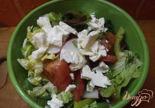 Необычный салат из арбуза с сыром фетой