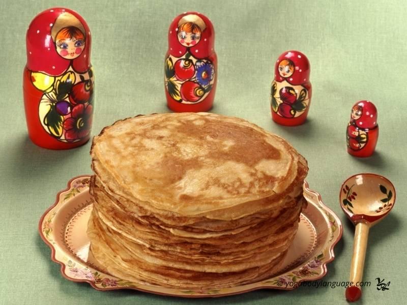Классические бабушкины блины русские традиционные