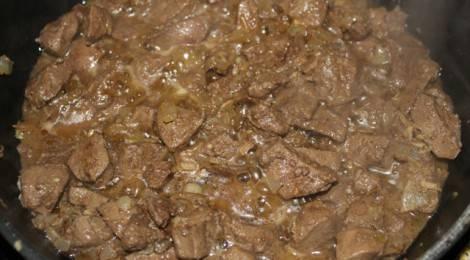 Печень жареная с луком