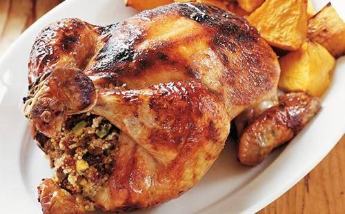 Курица, фаршированная блинами - 23 пошаговых фото в рецепте