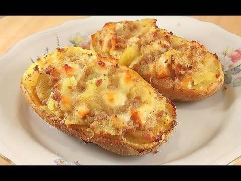 Фаршированный картофель в духовке: простые рецепты с фото
