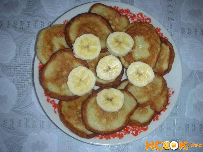 Пошаговый рецепт приготовления банановых оладий с фото