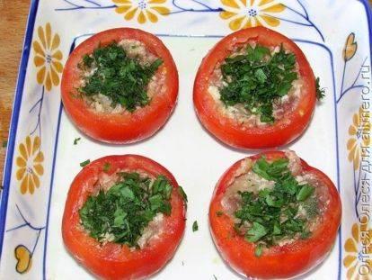 Фаршированные помидоры, начиненные фаршем: рецепт с фото (+отзывы)