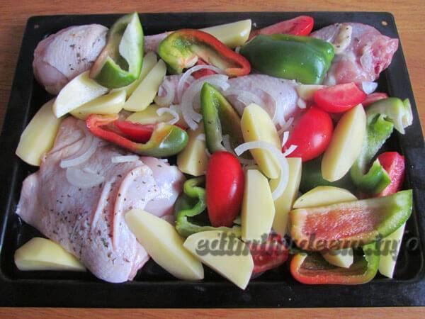 Куриные голени с овощами - рецепт с фотографиями - patee. рецепты