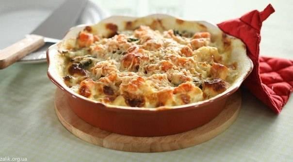 Рецепт приготовления вкусной запеканки с курицей