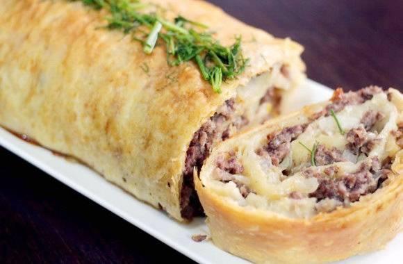 Фарш в лаваше в духовке: рецепты блюд