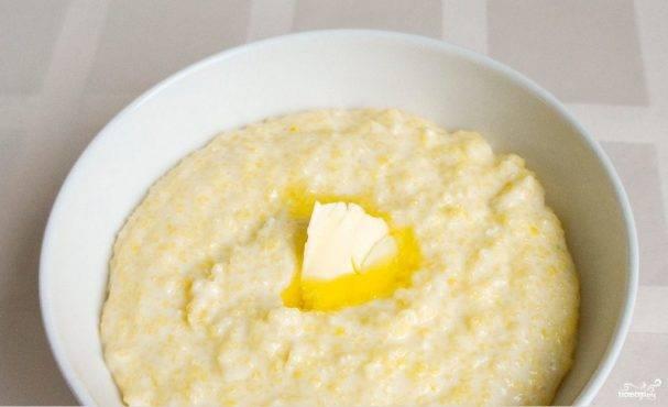 Кукурузная каша в мультиварке на молоке и на воде