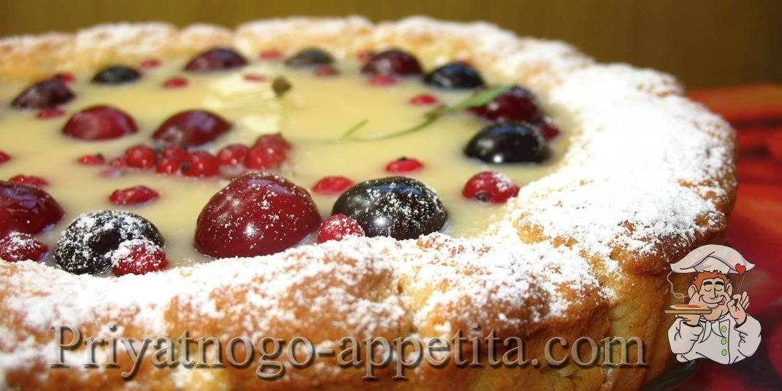 Рецепт пирога с заварным кремом
