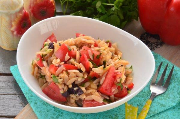 Летний тёплый салат по-итальянски - вкуснее не бывает