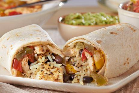 Мексиканские бурритос с курицей