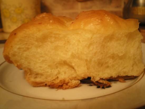 Дрожжевое тесто с манной кашей - в хлебопечке