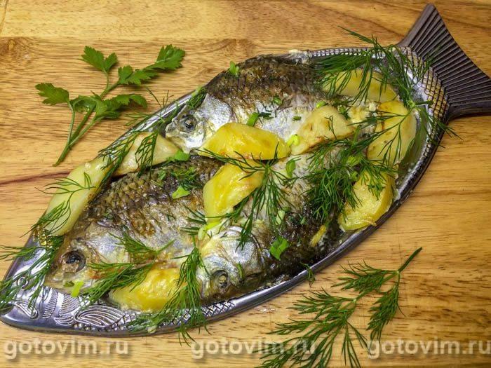 Фаршированные караси в духовке рецепт с фото