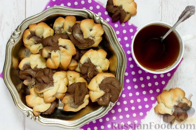 Двухцветное печенье - пошаговый рецепт с фото, ингредиенты, как приготовить - hi-chef.ru