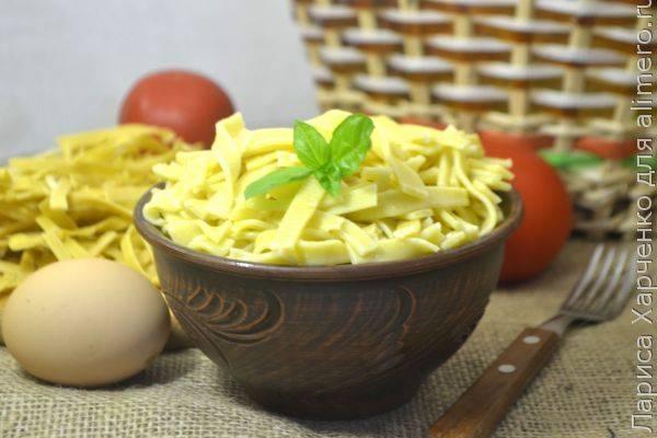 Домашняя яичная лапша по бабушкиному рецепту