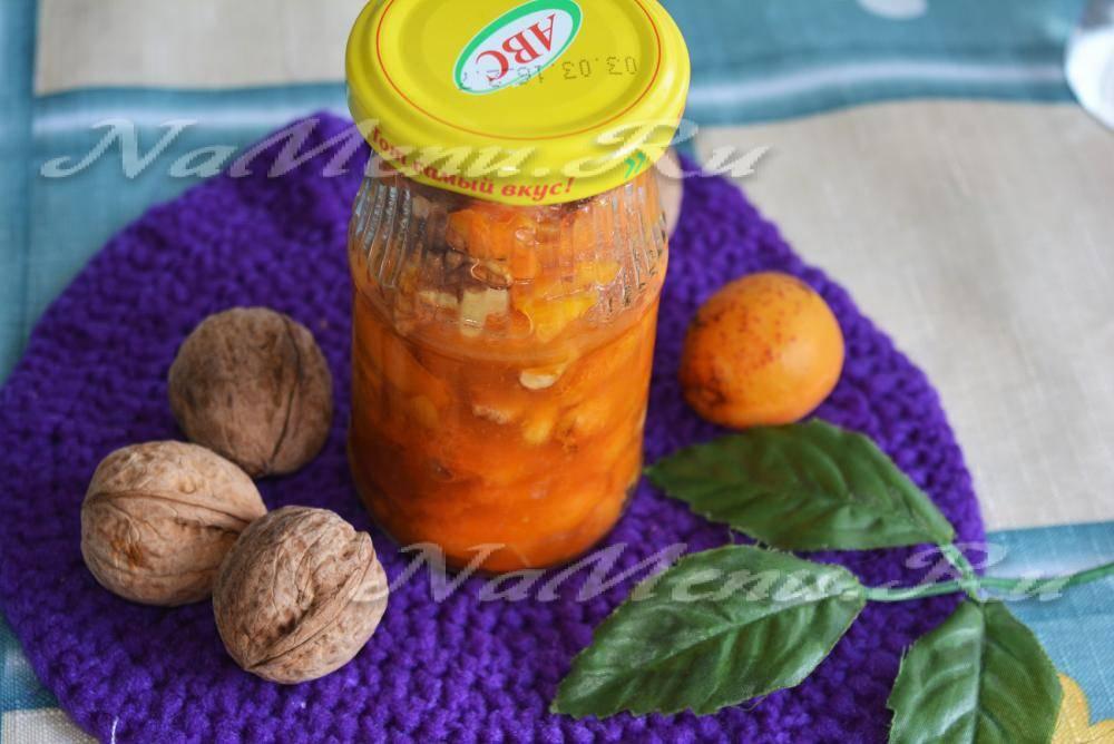 Ореховое варенье с добавлением абрикосов, черешни, крыжовника