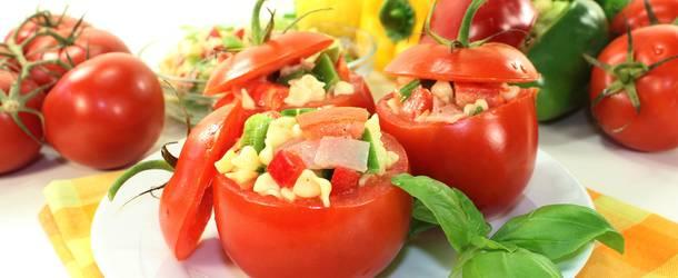 Фаршированные помидоры с сыром в духовке