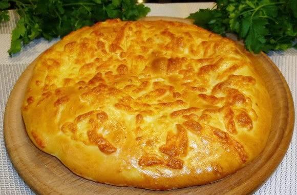 Лепешки с мясом и сыром в духовке