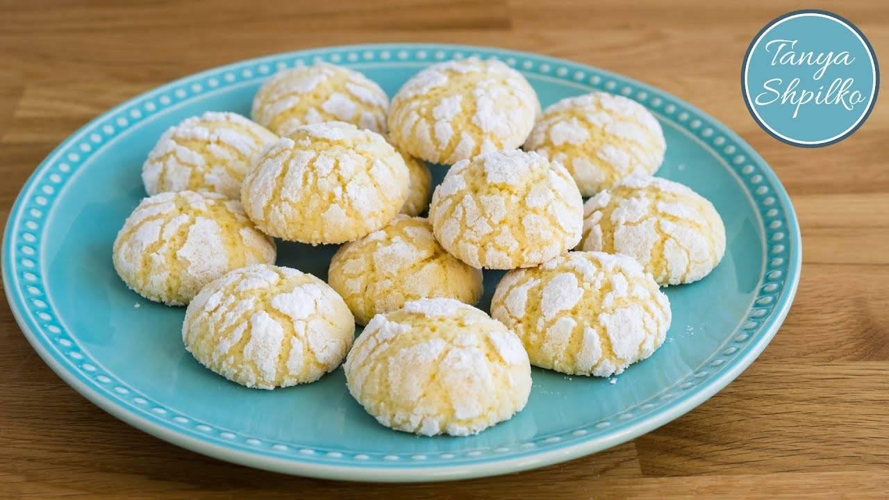 Миндально-апельсиновое песочное печенье на майонезе