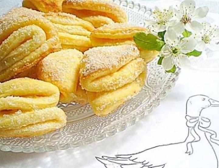 Пошаговый рецепт приготовления печенья гусиные лапки