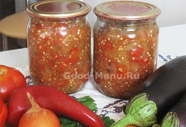 Баклажанная икра. пошаговый фото рецепт - рецепты джуренко