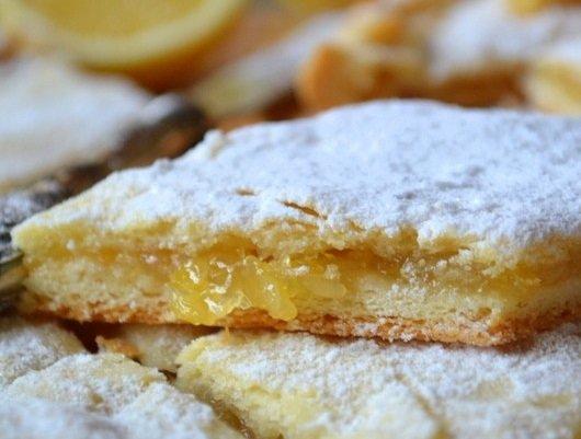 Лимонный пирог песочный