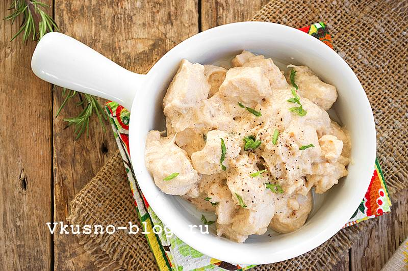 Филе куриное в сливочном соусе