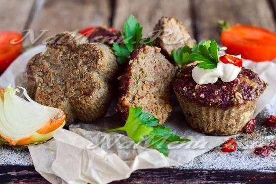Печёночные кексы с грибами