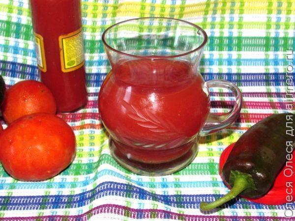 Это просто находка для вас - острый томатный сок на зиму