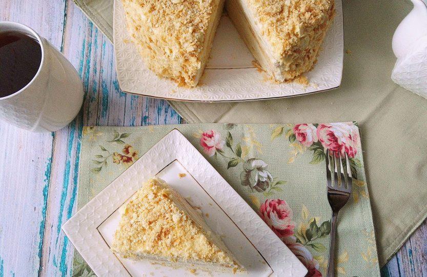 Торт наполеон как в детстве пошаговый рецепт с фото