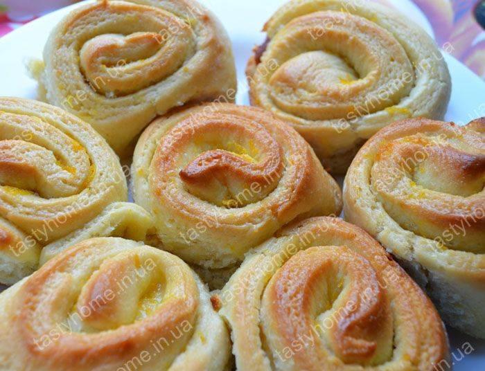 Апельсиновые булочки - 8 пошаговых фото в рецепте